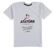 Atatürk Baskılı Tişört (Kız Erkek) Siyah Beyaz...