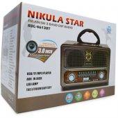 NIKULASTAR USB li FM Bluetooth Fenerli Radyo (RDL-4613 BT) -2