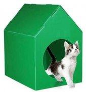Maskot Kedi Köpek Kulübesi Şok Fiyat Su Geçirmez Yeşil Renk
