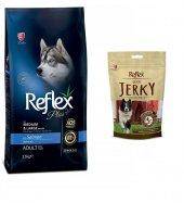 Reflex Plus Somonlu Büyük Ve Orta Irk Köpek Maması 15 Kg + Reflex Jerky Ödül Hediyeli