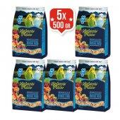 Nature Plan Meyve Aromalı Ballı Muhabbet Kuşu Yemi 500 Gr*5 Adet