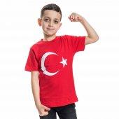 Unisex Kırmızı Türk Bayraklı Tshirt