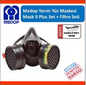 Adr Seti İçin Uyumlu Medop Mask Plus Iı Yarım Yüz Maske Filtreli