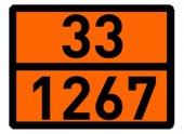 Adr Levha Düz Çinko Turuncu Levha Tehlikeli Madde Taşıma 40x30 Cm