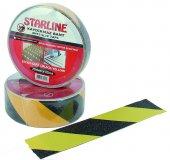 Starline Sarı Siyah Kaydırmaz Bant 25 Mm X 15 Mt