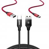 Sony Xperia Xz1 Baseus Yiven Halat Örgü Şarj Kablosu Uzun Kablo U