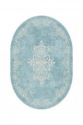 Passion 2089 Cm 120x180cm Oval Mavi Kaydırmaz Halı