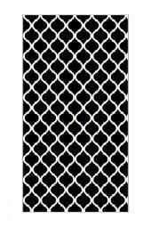 Passion 2166 80x300cm Siyah Kaydırmaz Halı