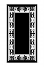 Passion Sn 009 100x160cm Siyah Kaydırmaz Halı