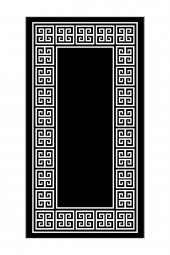 Passion Sn 009 80x150cm Siyah Kaydırmaz Halı