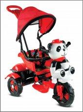 Babyhope 127 Little Panda Üçteker Bisiklet Oyuncak Sepetli Müzikli - Kirmizi
