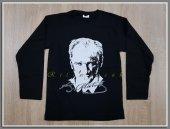 Siyah Atatürk Baskılı T Shirt Atatürk Poster Ve İmza Baskılı Uzun Kol Penye Tişört 10 Kasım, 23 Nisan Badi