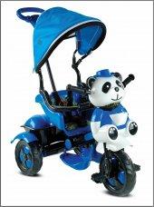 Babyhope 127 Little Panda Üçteker Bisiklet Oyuncak Sepetli Müzikli Mavi