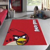 Merinos Halı Lisanslı Angry Birds Red Çocuk Halısı 133x190