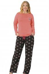 özkan 24728 Kadın Battal Modal Pijama Takımı