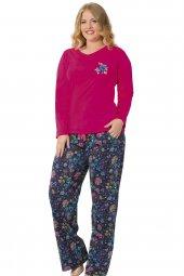 özkan 24724 Kadın Battal Modal Pijama Takımı