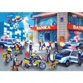 Puzzle Evi Hırsız Polis Banka Frame Puzzle 28 Parça