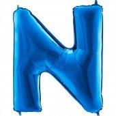 N Harf Grabo Folyo Balon Mavi 100 Cm