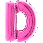 D Harf Grabo Folyo Balon Pembe 100 Cm