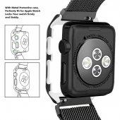 Apple Watch Series 4 GPS 40mm 40 Mm Kordon Kılıf Metal Kapak-2