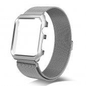Apple Watch Series 4 GPS 40mm 40 Mm Kordon Kılıf Metal Kapak-7