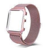 Apple Watch Series 4 GPS 40mm 40 Mm Kordon Kılıf Metal Kapak-10