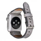 Barchello Apple Watch Deri Kordon 38/42mm Croco Gri