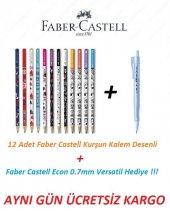 Faber Castell Kurşun Kalem Desenli 12 Adet Econ Versatil Hediye