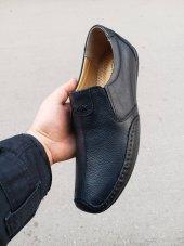 New Prato Erkek Ayakkabı 7106 Siyah Lotus Deri