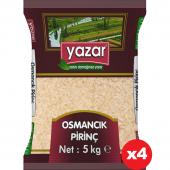 Yazar Yerli Osmancık  Pirinç 5 kg x 4 Adet