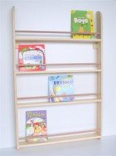 çocuk Odası Ahşap Soft Montessori Kitaplık Naturel...