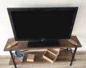 Masif Ahşap Tv Ünitesi 140 cm T002-4