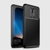 Edelfalke Huawei Mate 10 Lite Negro Silikon Kılıf Siyah