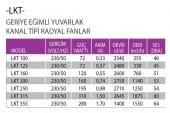 FanexFan LKT Geriye Eğimli Yuvarlak Kanal Tipi Radyal Fanlar-2