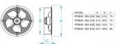 FanexFan PDRAF Dıştan Rotorlu Yuvarlak Kasalı Aksiyal Aspiratörle-2