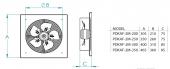 FanexFan PDKAF Dıştan Rotorlu Kare Kasalı Aksiyal Aspiratörler-2