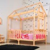 Montessori Yatak Çocuk 90X190 Karyola Bebek Beşik Oyun Alanı-2