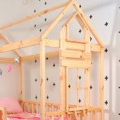 Montessori Yatak Çocuk 90X190 Karyola Bebek Beşik Oyun Alanı-4