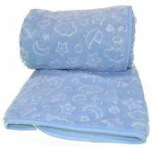 özdilek Embos Peluş Bebek Battaniye Mavi