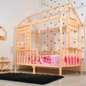 Montessori Yatak Pencereli Çocuk Odası 90X190 Bebek Beşik-2
