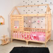 Montessori Yatak Pencereli Çocuk Odası 90X190 Bebek Beşik-3