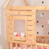 Montessori Yatak Pencereli Çocuk Odası 90X190 Bebek Beşik-4
