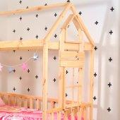 Montessori Yatak Pencereli Çocuk Odası 90X190 Bebek Beşik-5