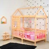 Montessori Yatak Pencereli Çocuk Odası 90x190...