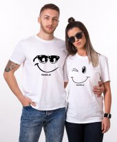 Tshirthane Smile Sevgili Kombini Tişörtleri