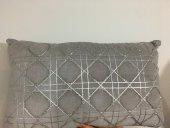 SadeHomeDecor lucky art açık füme taşlı yastık 50 cm-2