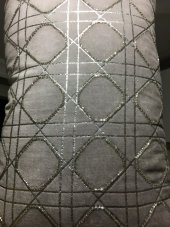 SadeHomeDecor lucky art açık füme taşlı yastık 50 cm-3