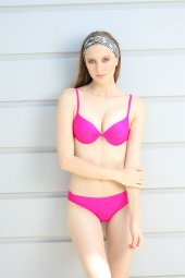 Spenza Swimwear İp Detaylı Fuşya Bikini Takımı