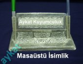 Th 01 Gümüş Telkari Masa İsimlik
