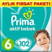 Prima Aktif Bebek Bezi 6 Beden Ekstra Large 102 Ad...